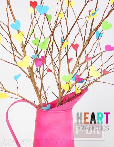 รูป 6 ของประดับบ้าน ต้นไม้กระดาษ รูปหัวใจ