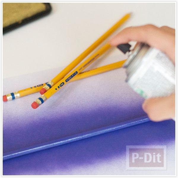 รูป 3 ดินสอไม้ ปั้มตัวอักษร