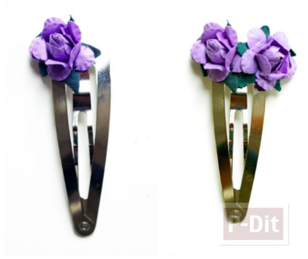 รูป 3 ดอกไม้ประดิษฐ์ ตกแต่งกิ๊บติดผม