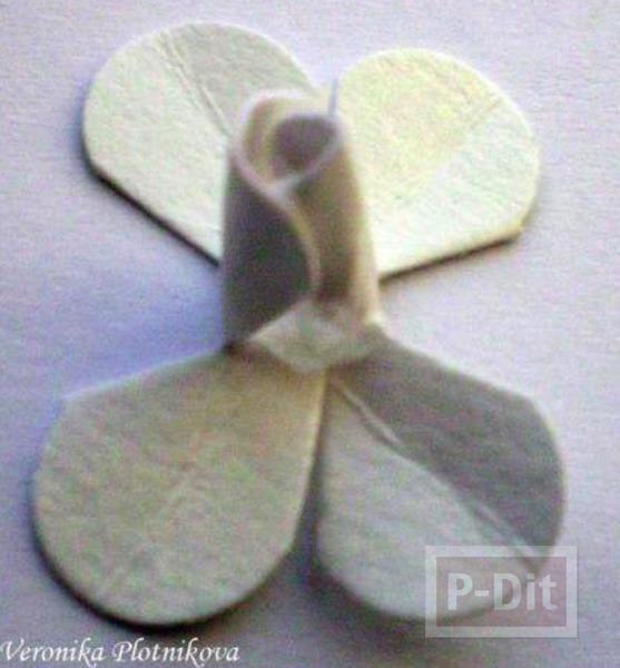 รูป 4 สอนทำดอกกุหลาบ จากกระดาษกล่อง
