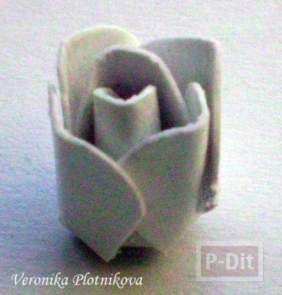 รูป 6 สอนทำดอกกุหลาบ จากกระดาษกล่อง