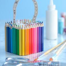 สอนทำกล่องใส่ของ ประดับดินสอสี