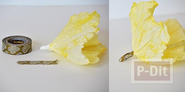 รูป 6 ดอกไม้กระดาษ ทำจากถ้วยคัพเค้ก ย้อมสี