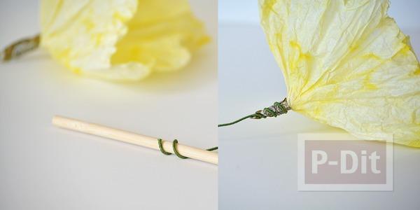 รูป 7 ดอกไม้กระดาษ ทำจากถ้วยคัพเค้ก ย้อมสี