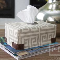 หุ้มกล่องกระดาษทิชชู ด้วยผ้า