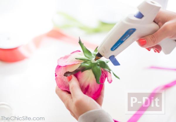 รูป 7 ไอเดียทำห่วงคล้องผ้าเช็ดมือ จากดอกไม้สด