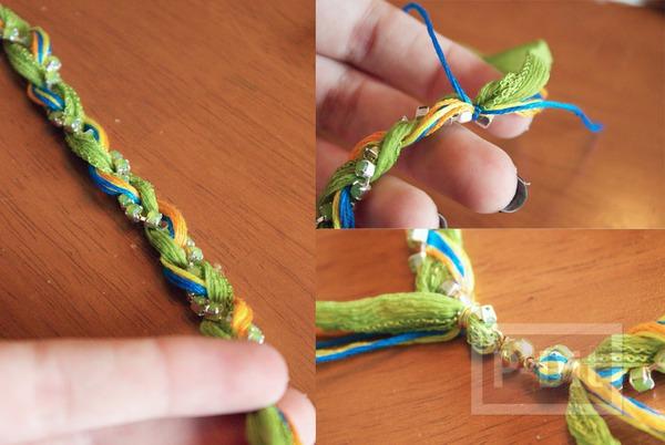 รูป 3 สอนทำสร้อยข้อมือสวยๆ จากผ้า และสายสร้อย