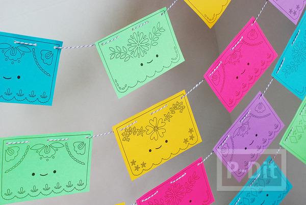โมบายกระดาษ ประดับบ้าน ลายน่ารัก