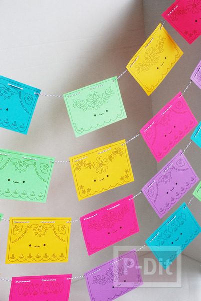 รูป 3 โมบายกระดาษ ประดับบ้าน ลายน่ารัก