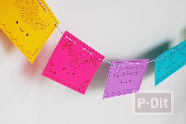 รูป 6 โมบายกระดาษ ประดับบ้าน ลายน่ารัก