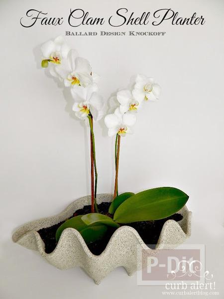 รูป 7 แจกันดอกไม้ ทำจากพลาสติก ลายหอย
