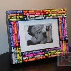 กรอบรูป ประดับสวย ด้วยสีเทียน