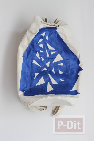 รูป 6 ตกแต่งกระเป๋าสะพาย ด้วยสีน้ำ