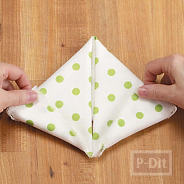 รูป 3 พับผ้าเช็ดมือ ลายกระต่าย