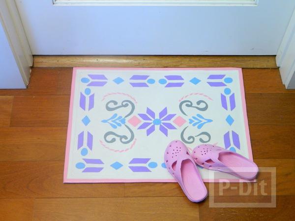 รูป 7 พรมเช็ดเท้า ประดับลายสวย