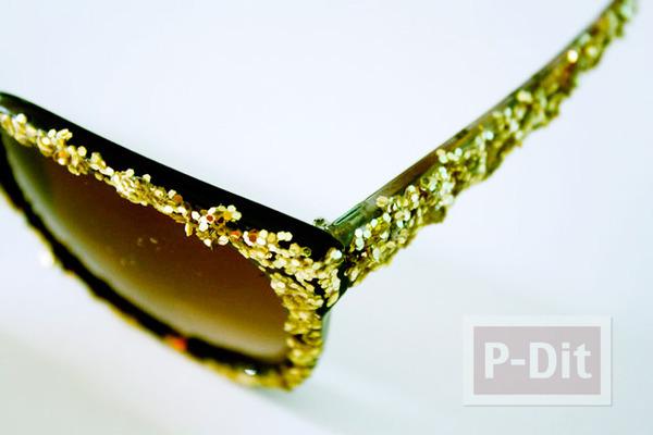 รูป 5 แว่นตากันแดด ตกแต่งด้วยกากเพชร