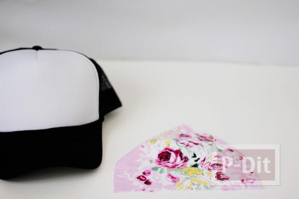 รูป 4 ตกแต่งหมวก ลายดอก จากผ้า
