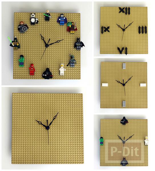 รูป 4 นาฬิกาติดผนัง ทำจากแผ่นเลโก้