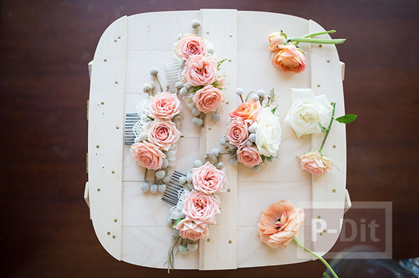 รูป 5 ตกแต่งหวีสับสวยๆ ประดับทรงผม งานแต่งงาน