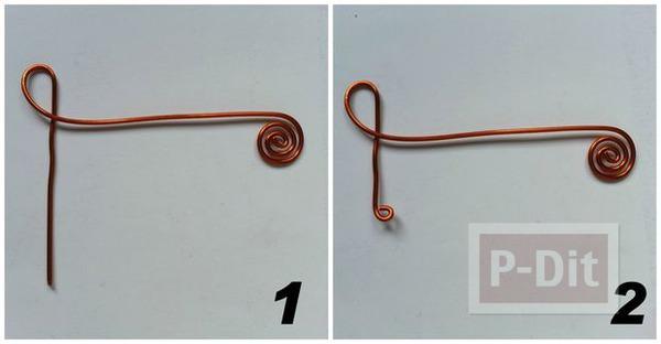 รูป 3 ดัดแหวน ลายกุญแจซอล(Treble Clef)