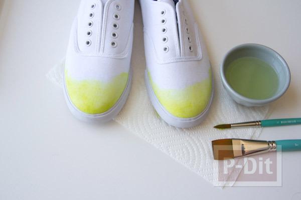 รูป 5 เพ้นท์สีรองเท้าผ้าใบ สีสดใส
