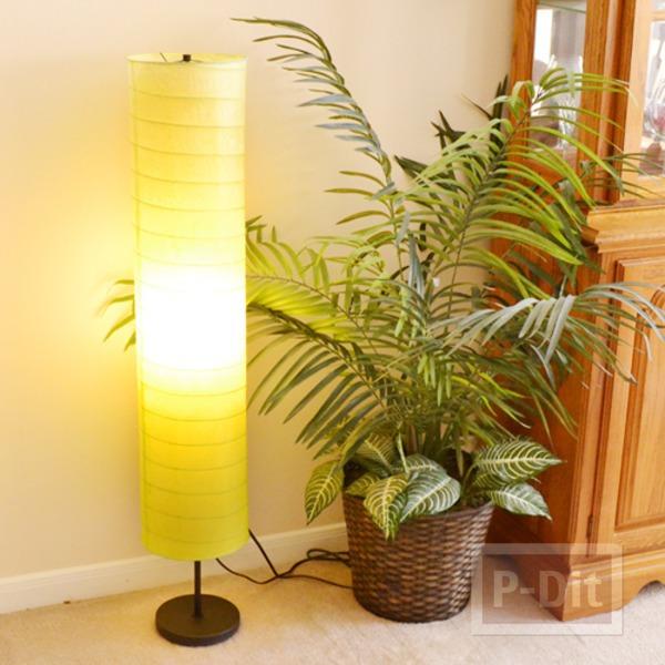 ย้อมสีที่ครอบโคมไฟ สวยประดับบ้าน