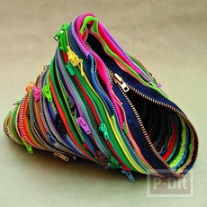 กระเป๋าเงินเหรียญ ทำจากซิปสีสด