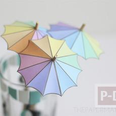 สอนทำร่มเล็กๆ ประดับแก้วน้ำ