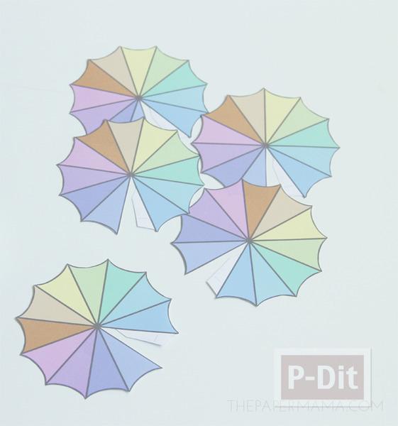 รูป 4 สอนทำร่มเล็กๆ ประดับแก้วน้ำ