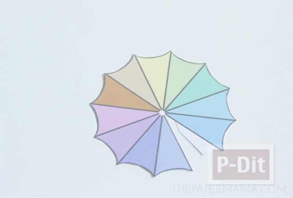 รูป 5 สอนทำร่มเล็กๆ ประดับแก้วน้ำ