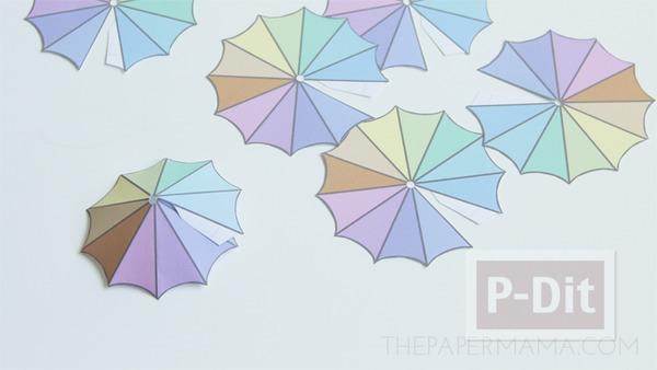 รูป 6 สอนทำร่มเล็กๆ ประดับแก้วน้ำ