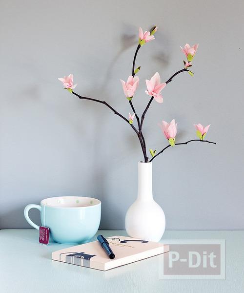 รูป 1 ดอกไม้ประดิษฐ์ ทำตกแต่งบ้าน