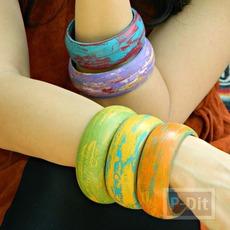 กำไลข้อมือ เปลี่ยนสี สองสีสลับกัน