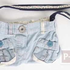 เย็บกระเป๋าสะพาย จากกางเกงยีนส์