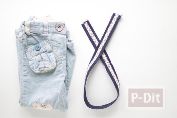 รูป 3 เย็บกระเป๋าสะพาย จากกางเกงยีนส์