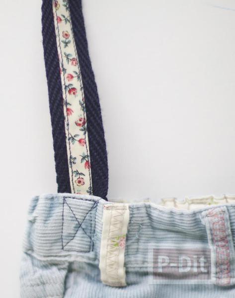 รูป 7 เย็บกระเป๋าสะพาย จากกางเกงยีนส์