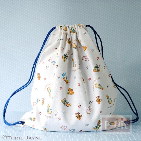 รูป 7 กระเป๋าเป้ เย็บเอง ร้อยเชือก