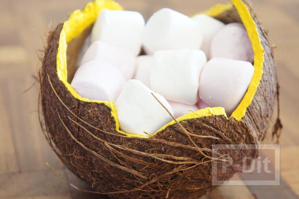 รูป 7 ทำที่ใส่ของ ที่ใส่ขนม จากกะลามะพร้าว