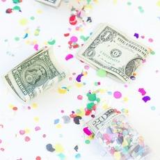 ไอเดียของขวัญ เงินใน พลุกระดาษ