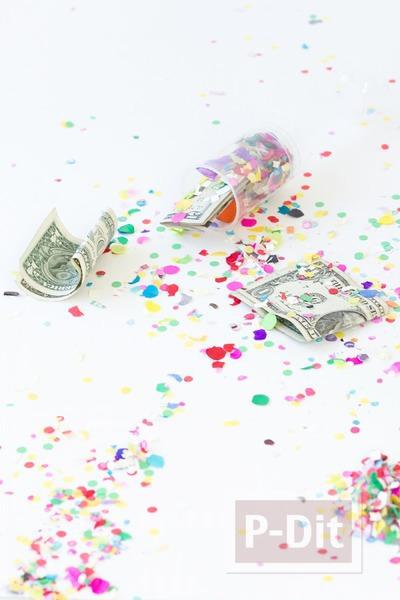 รูป 3 ไอเดียของขวัญ เงินใน พลุกระดาษ