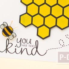 การ์ดรังผึ้ง ตกแต่งสวย