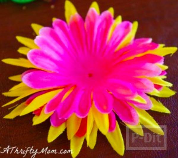 รูป 4 รองเท้าแตะ ตกแต่งลายดอกไม้ สีสดใส