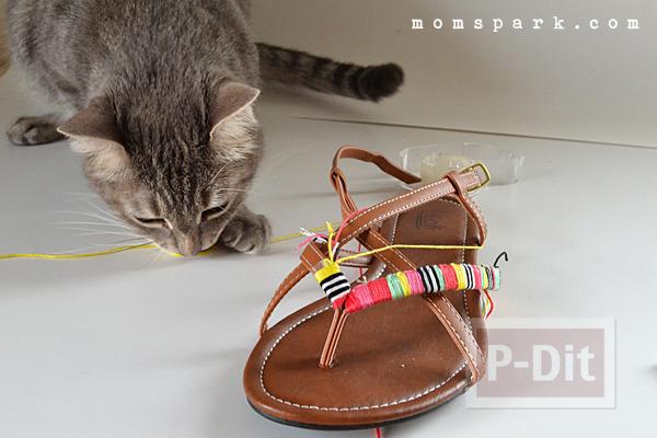 รูป 5 รองเท้ารัดส้นลายสวย ประดับด้าย สีสด