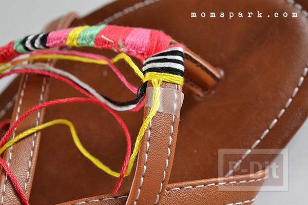 รูป 7 รองเท้ารัดส้นลายสวย ประดับด้าย สีสด