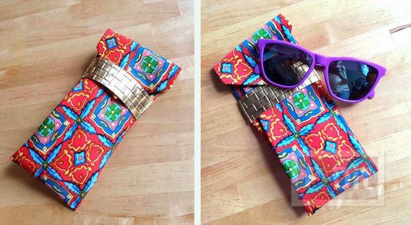 กระเป๋าใส่แว่นตา ทำจากเนคไท