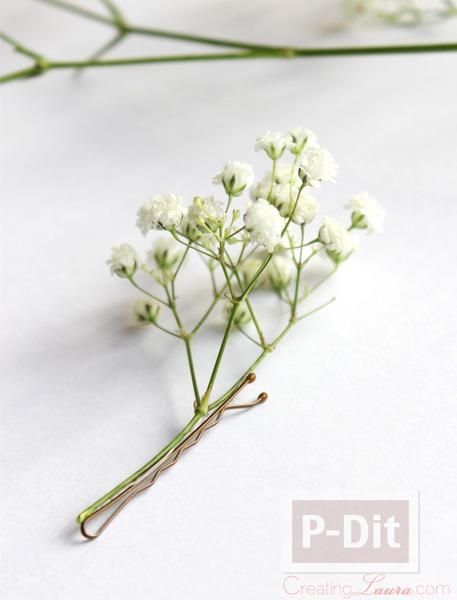 รูป 2 กิ๊บติดผม ทำจากดอกไม้สด