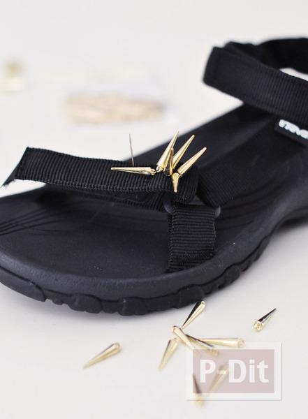 รูป 3 รองเท้ารัดส้นคู่สวย ประดับหมุดแหลม