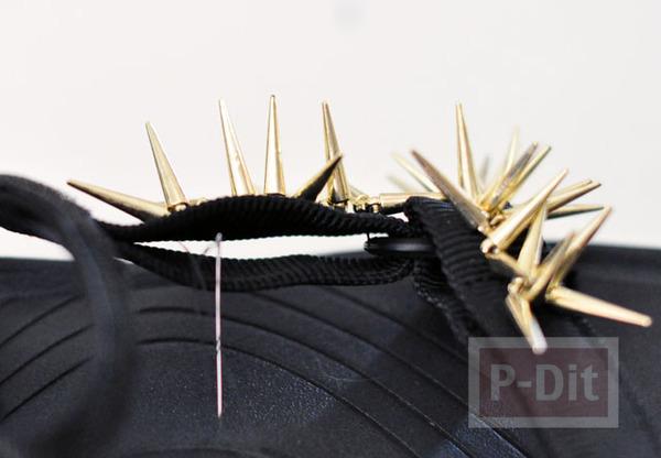 รูป 6 รองเท้ารัดส้นคู่สวย ประดับหมุดแหลม