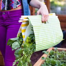ถุงเก็บผัก ทำจากพลาสติก ลายสวย