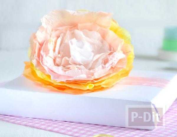 รูป 1 ห่อของขวัญ ด้วยดอกไม้กระดาษ